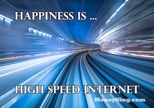 happy to have internet