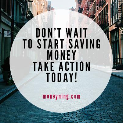 Don't wait to start saving