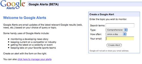 Setup Google Alerts to Get Coupons and Deals