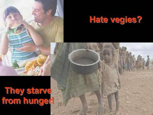 I really hate vegetables