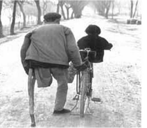 grandfather takes me to school