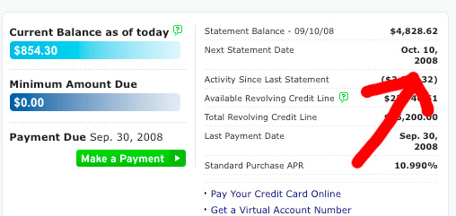 citibank credit card statement
