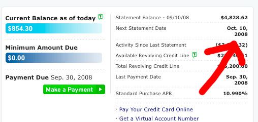 citibank credit card statement