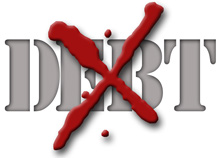 crossed out debt