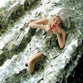 drown in cash