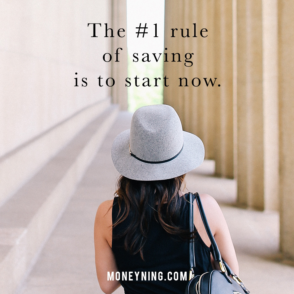 #1 rule of saving