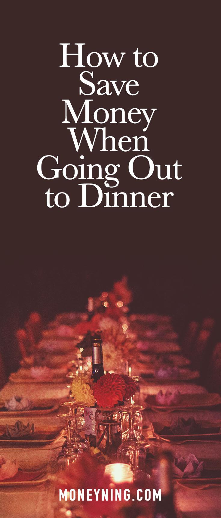 Sparen Sie beim Abendessen