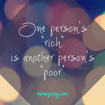 One person's rich