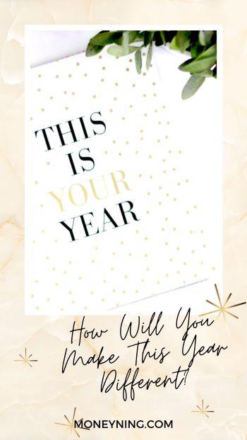 Como você tornará este ano diferente? 4