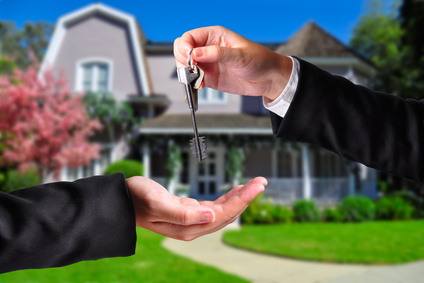 Handing over the keys when buying a house