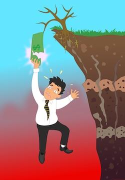 falling in debt