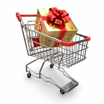 Holiday shopping cart