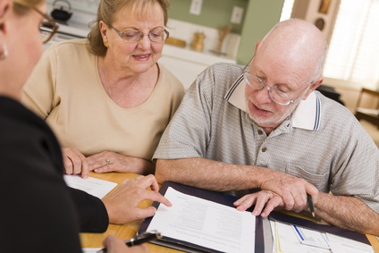Couple reviewing retirement plans