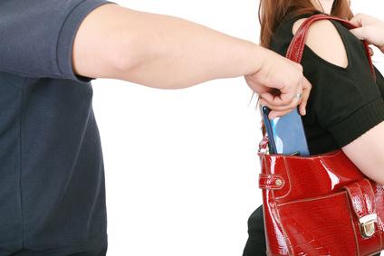 Thief robbing phone