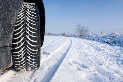 Tires on snow