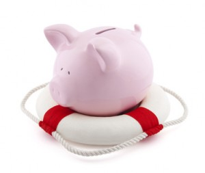 Emergency fund piggy bank