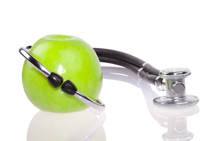 Apple & stethoscope