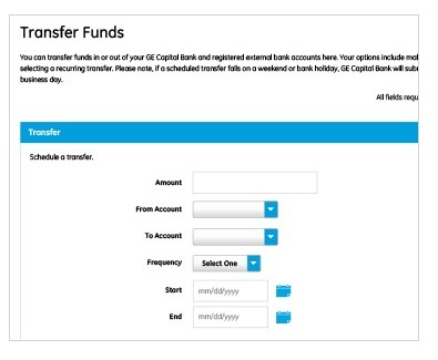 ge capital transfer funds