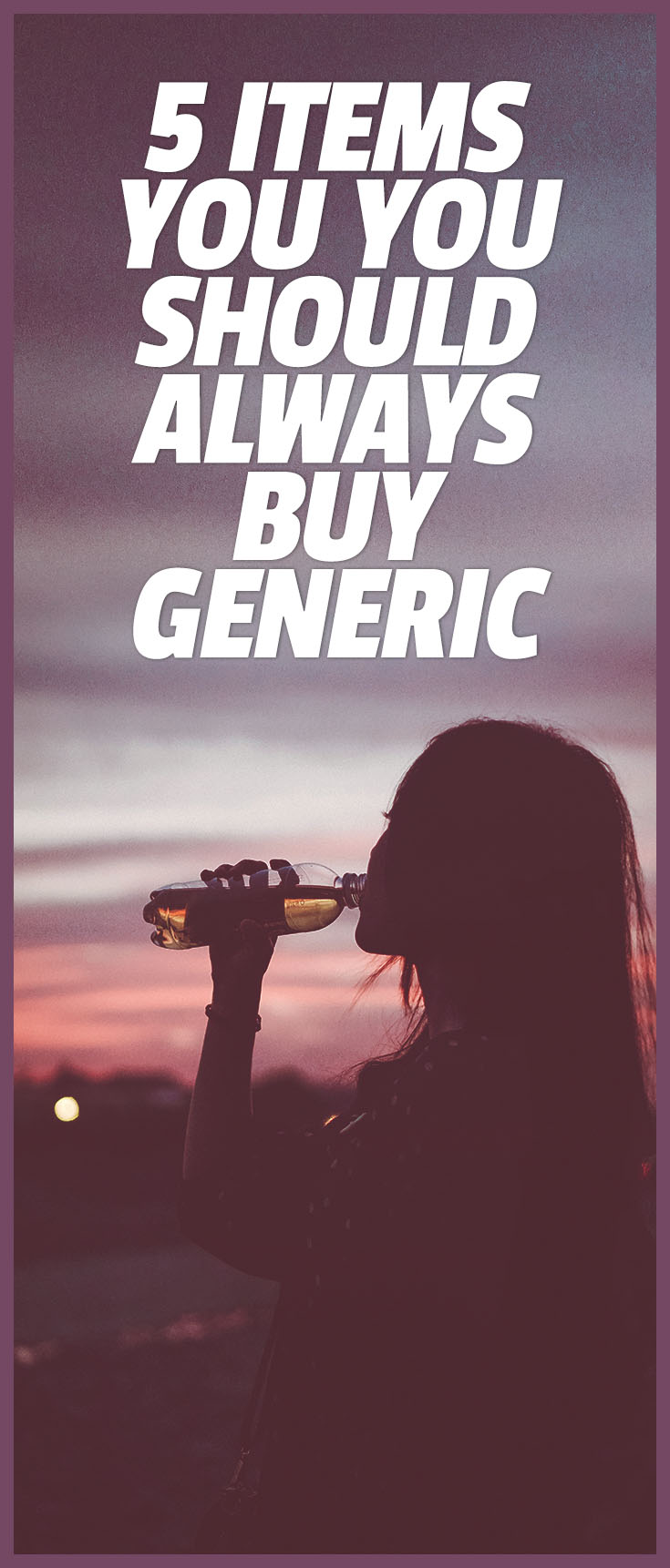 items to buy generic