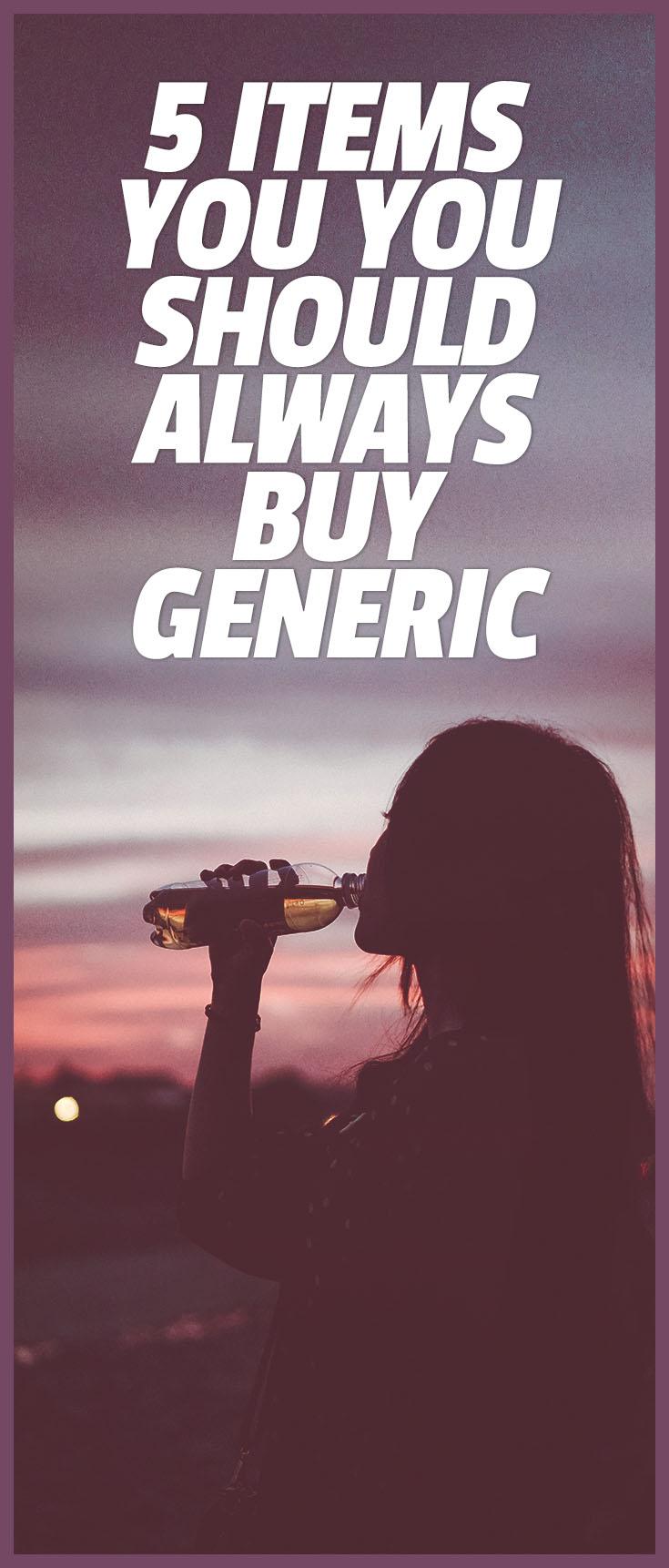 items to buy generic