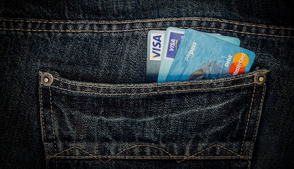 pocket full of credit cards