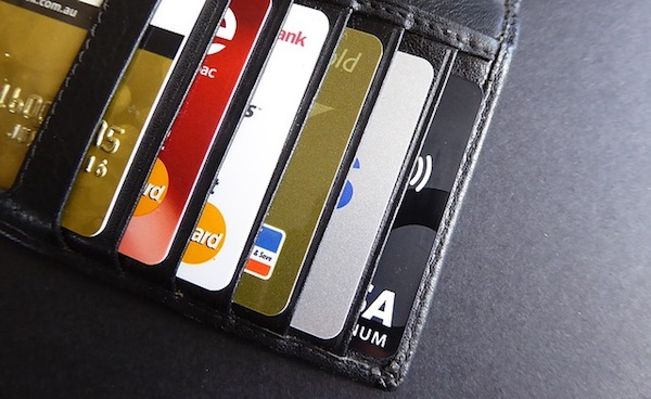 wallet of credit cards