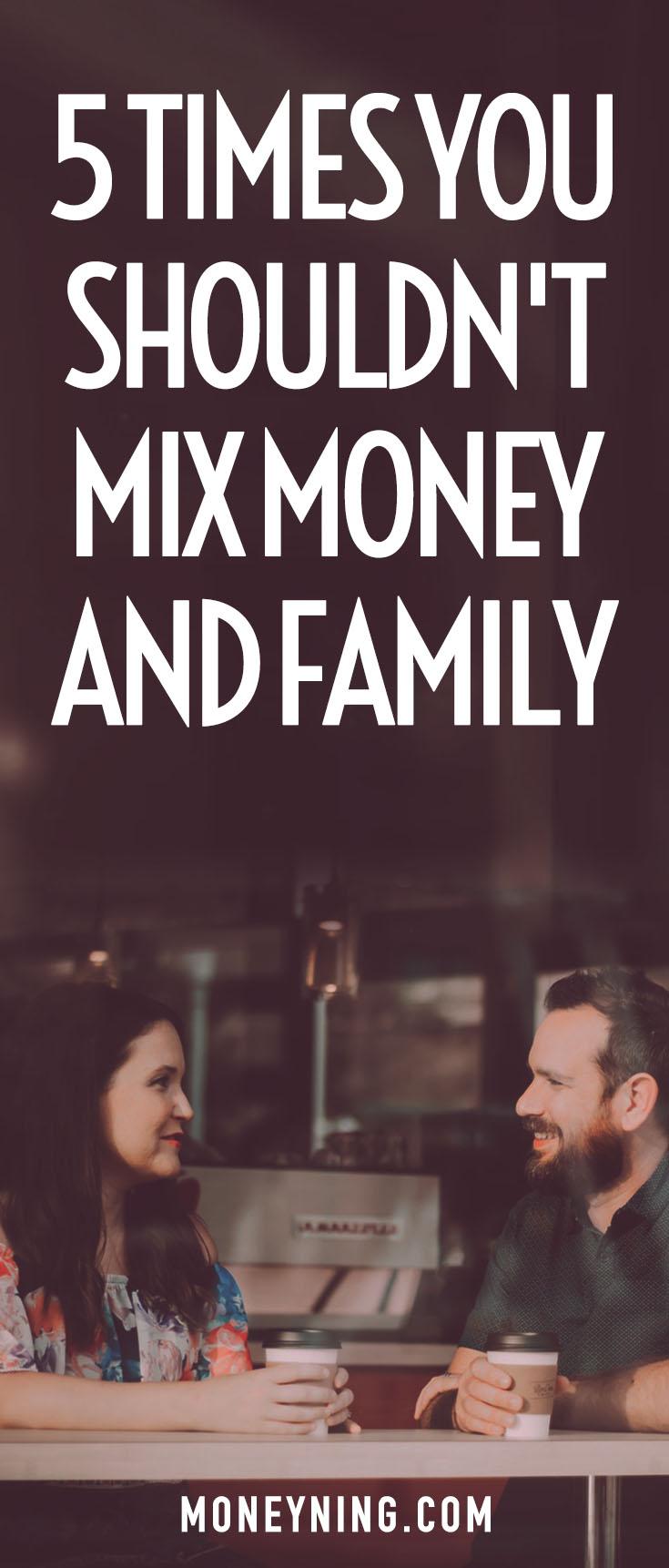 Geld und Familie mischen