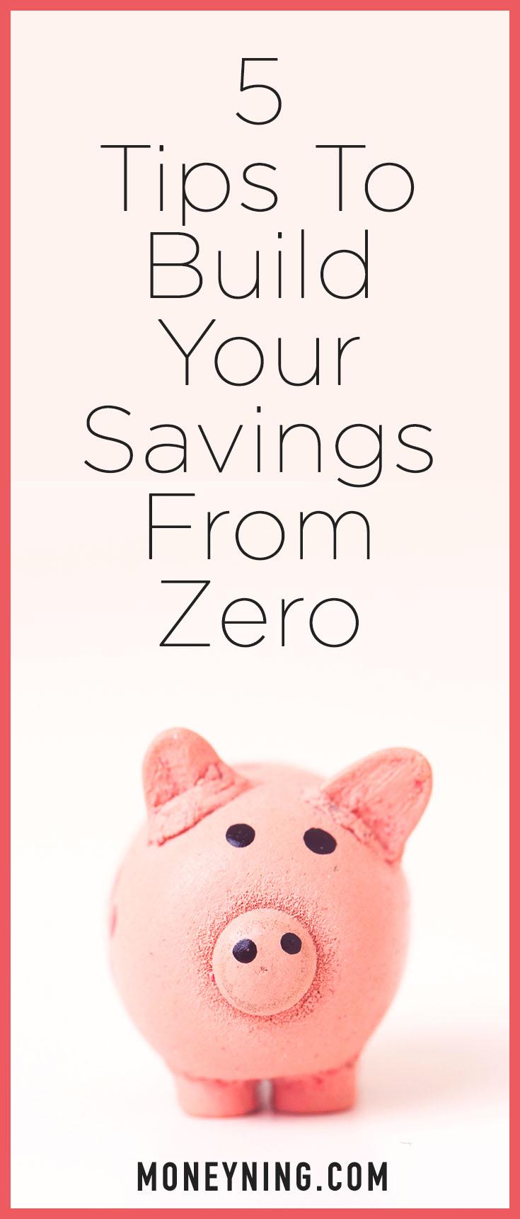 build savings from zero