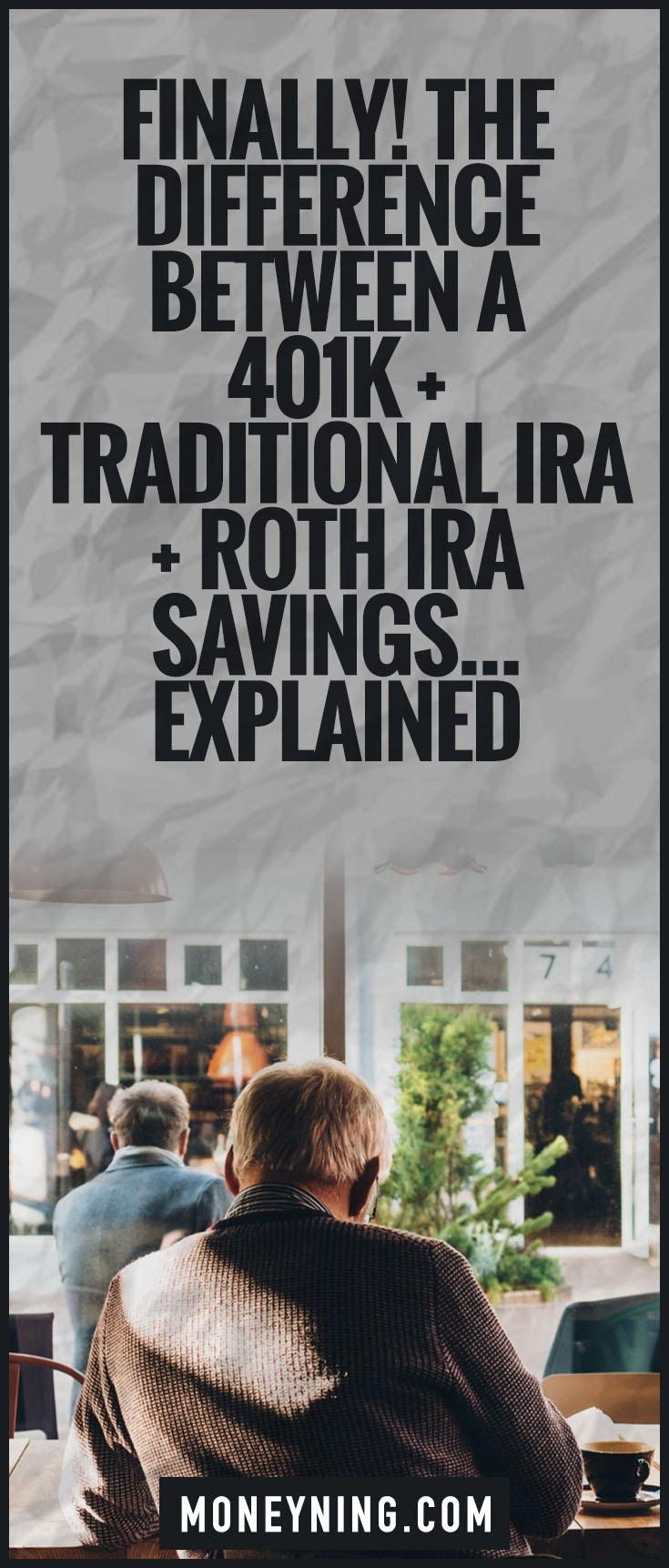 ira vs roth vs 401k