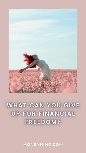 O que você pode abrir mão de liberdade financeira? 4